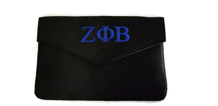 Zeta Phi Beta Satin Envelope Clutch