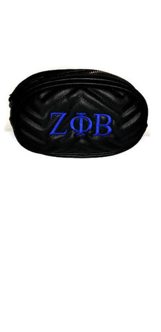 Zeta Phi Beta Black Belt Bag
