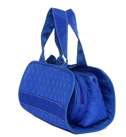 Zeta Phi Beta 3 in 1 Quilted Royal Blue Cosmetic Set