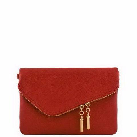 Delta Sigma Theta Small Envelope Messenger Zip Clutch