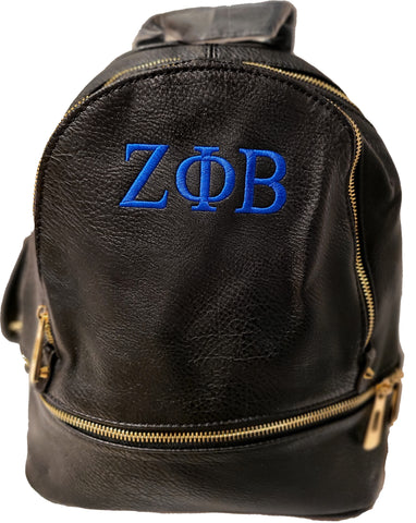 Embroidered Zeta Phi Beta Fashion Backpack