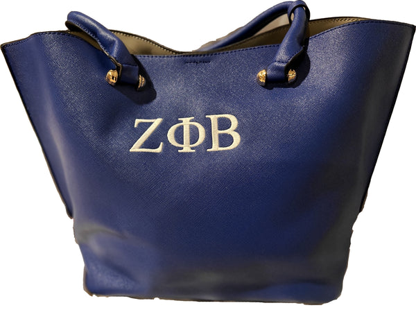 Zeta Phi Beta 2 in 1 Vegan Handbag