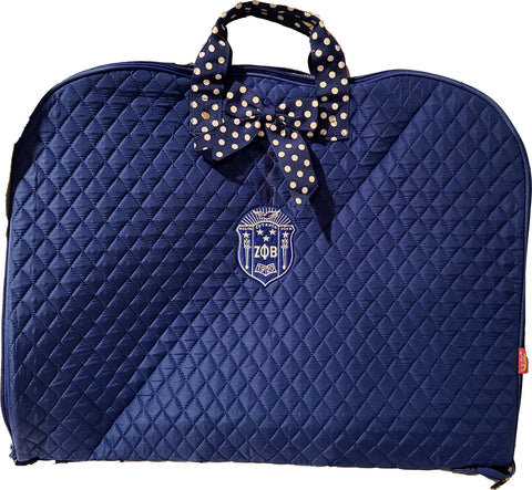 Zeta Phi Beta Quilted Garment Bag