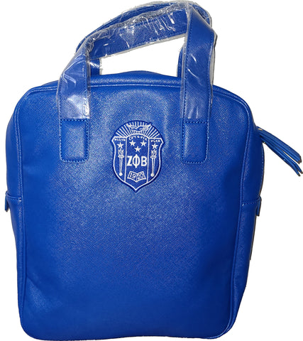 Embroidered Zeta Phi Beta Textured Tote Backpack