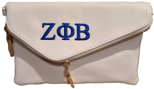 Zeta Phi Beta Medium Size Envelope Clutch