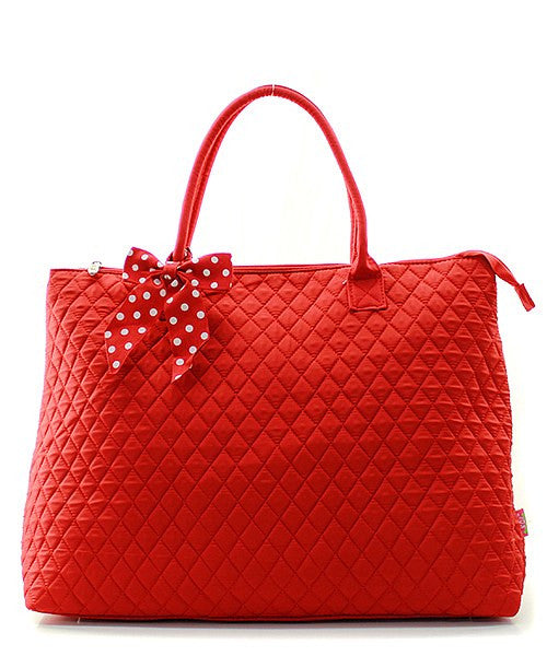 Embroidered Delta Sigma Theta Quilted Large Tote Bag