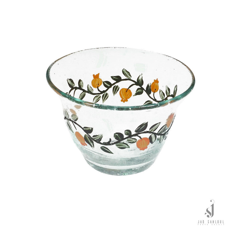 Glass Coffee Cup Pomegranate  3 pcs