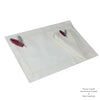 Feather Embroidered Place Mat and Napkin Set