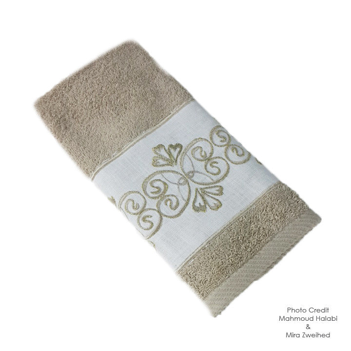 Linen Embroidered Towel