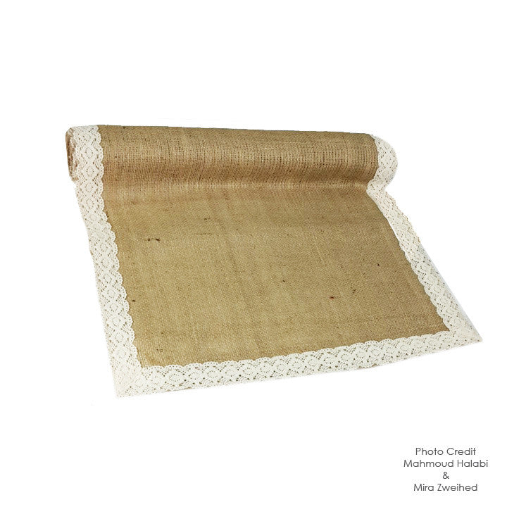 Lace & Jute Table Runner