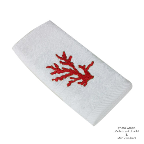 Coral Leaf Towel