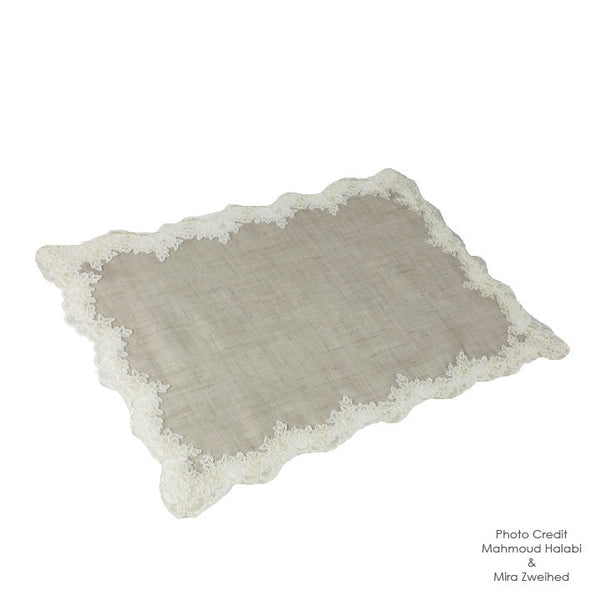 Lace & Linen Tray Cover