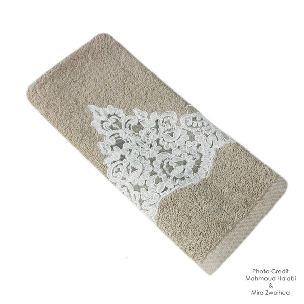 Lace Embroidered Towel