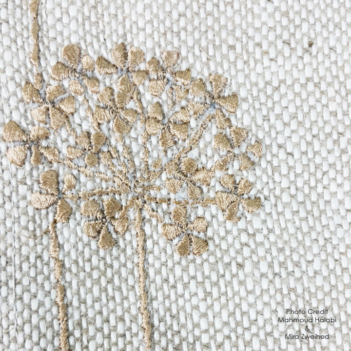 Cotton Flower Embroidered Table Mat