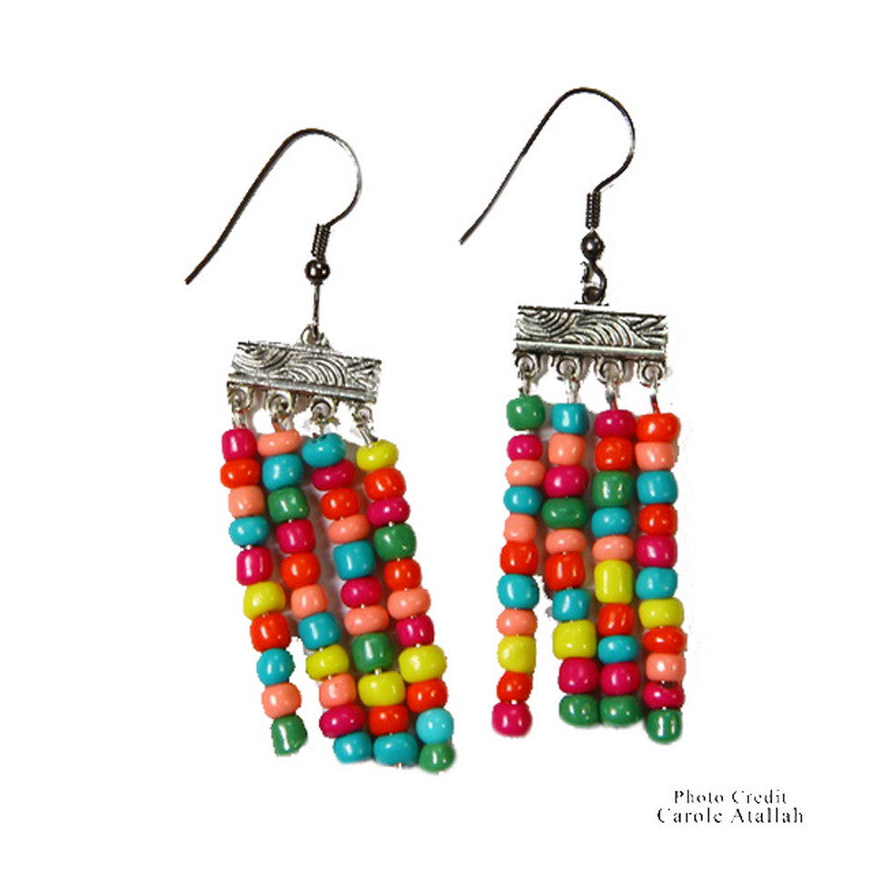 Rainbow Dangling Earrings