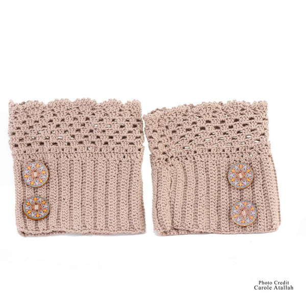 Button Cotton Leg Warmer
