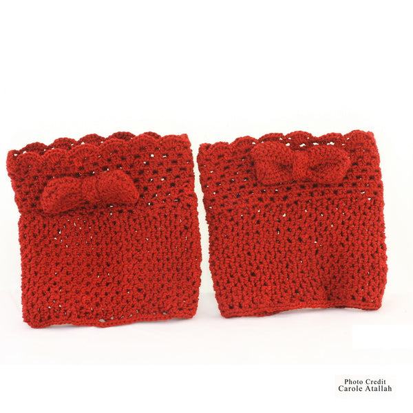 Bow Cotton Leg Warmer