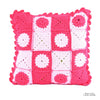 Pink and White Knitted - Pillow Case