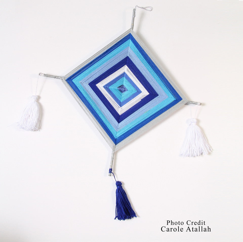 Diamond Shape Dream Catcher - Blue