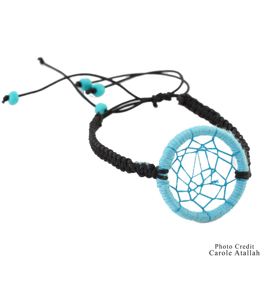Lucky Charm Dream Catcher Bracelet - Blue