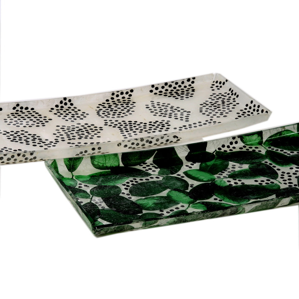 Amusing Rectangular Green Trays