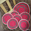 Colorful Coasters & Centerpiece 7 pcs