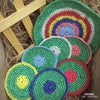 Set of Colorful Coasters & Centerpiece 7 pcs