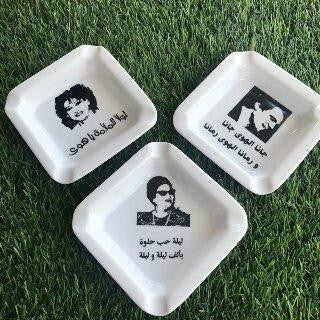 Ashtray Celebrities 3 pcs