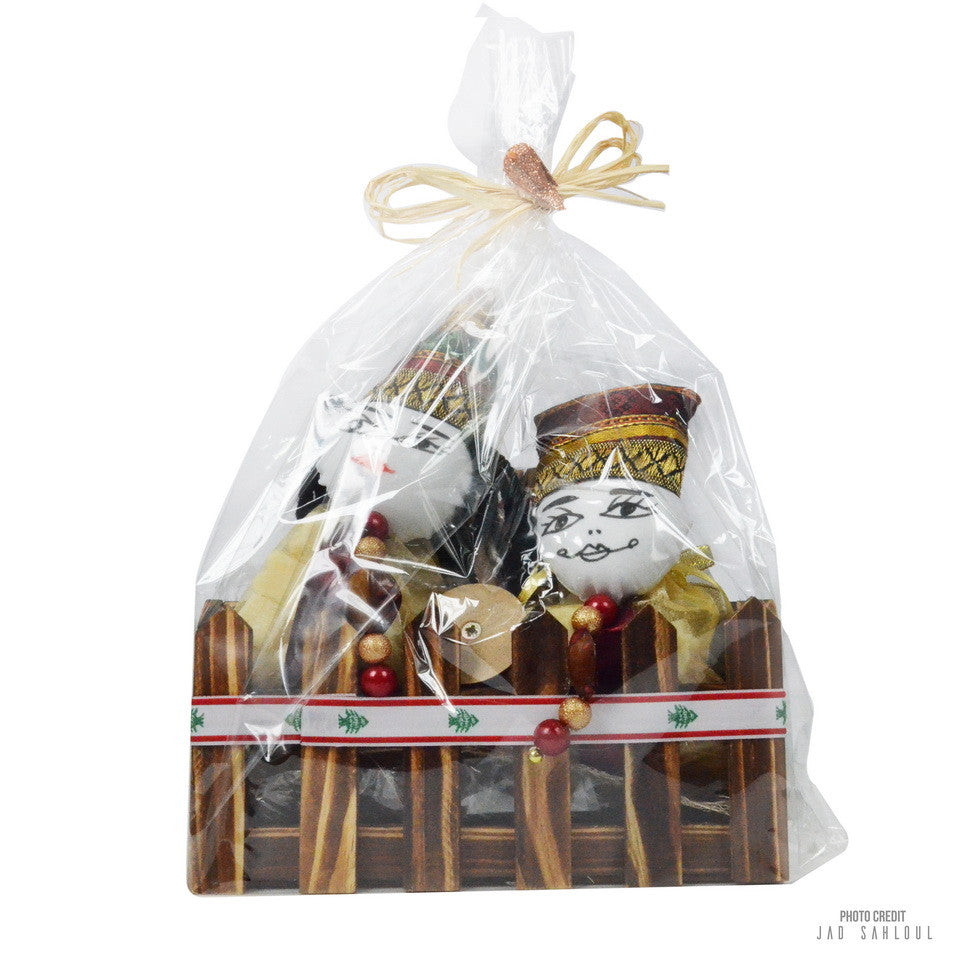 Wooden Soap Basket ( Bride & Groom )
