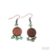 Copper & Green Bead Earrings