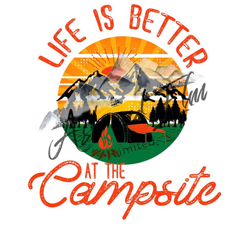 Life is Better at the Campsite Panel