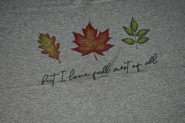 But I love fall most of all Sale Panel