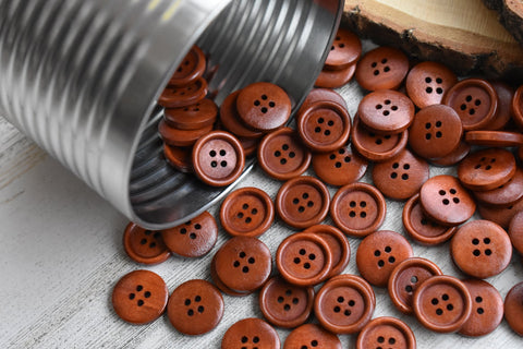 "Cinnamon 3/4"" Wood Buttons"