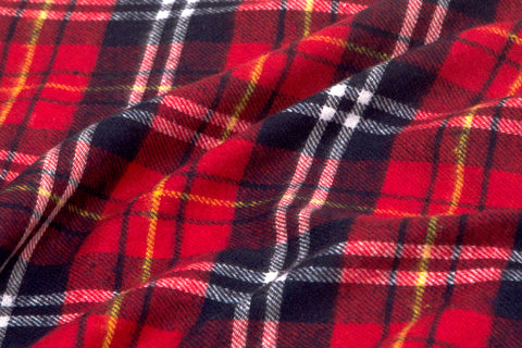 Red & Blue Plaid Shirting Flannel