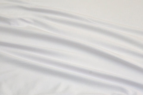 White Double Brushed Poly Solid Fabric
