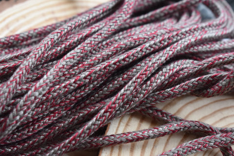 Grey and Burgundy Drawstring Cord