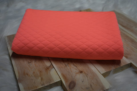 Coral Quilted Knit