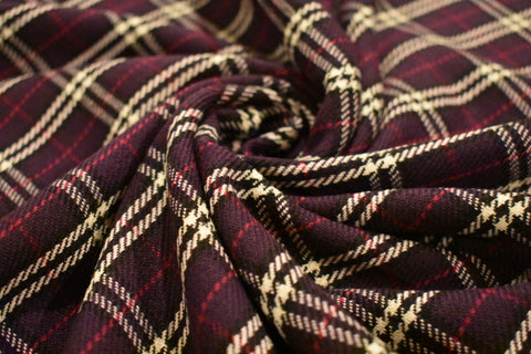 Purple Plaid Woolette