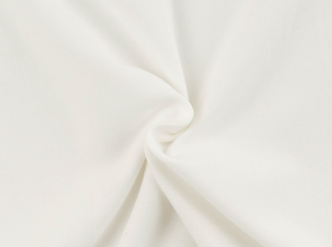 Ivory Heavy Double Brushed Poly Solid Fabric