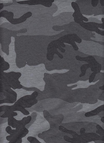 Grey Camo French Terry