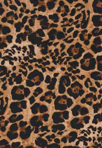 Leopard Double Brushed Poly Fabric