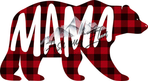 Mama Bear Plaid Panel