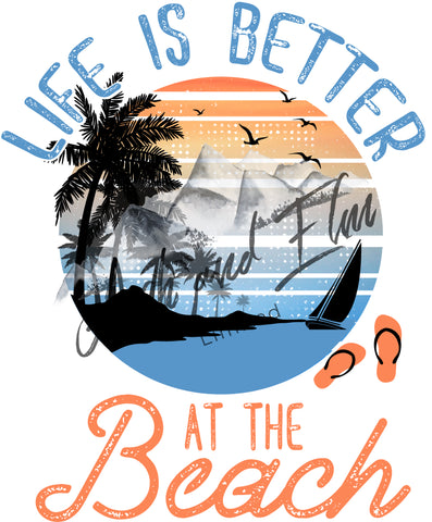 Life is Better at the Beach Panel