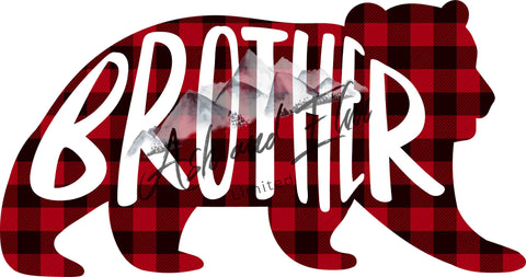Brother Bear Plaid Panel