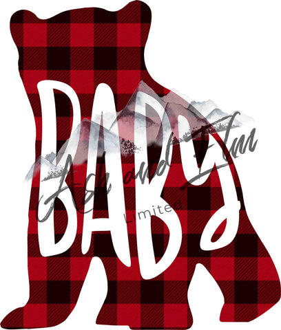 Baby Bear Plaid Panel