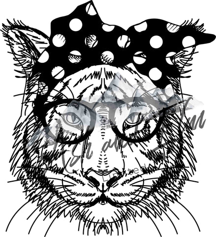B&W Sassy Tiger Panel