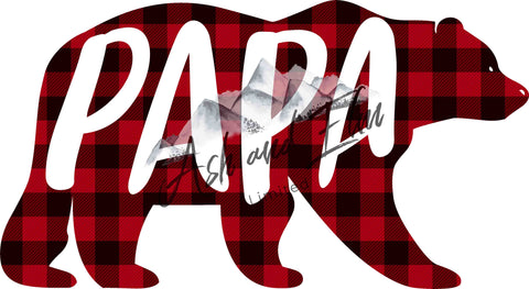Papa Bear Plaid Panel