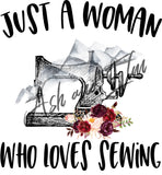 Just a Woman Who Loves Sewing Panel