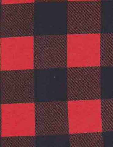 Red Buffalo Plaid French Terry