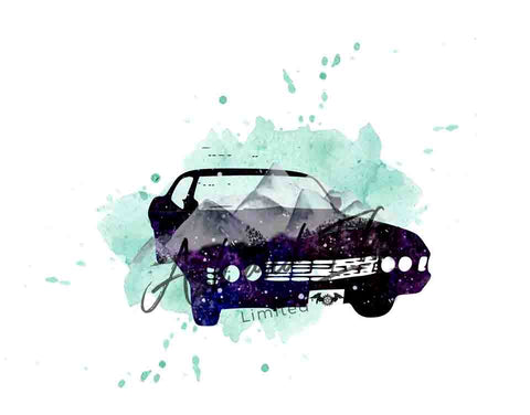Watercolor Supernatural Baby Panel